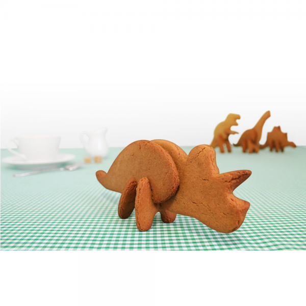Image of 3D Dinosaur Cookie Cutters Triceratops