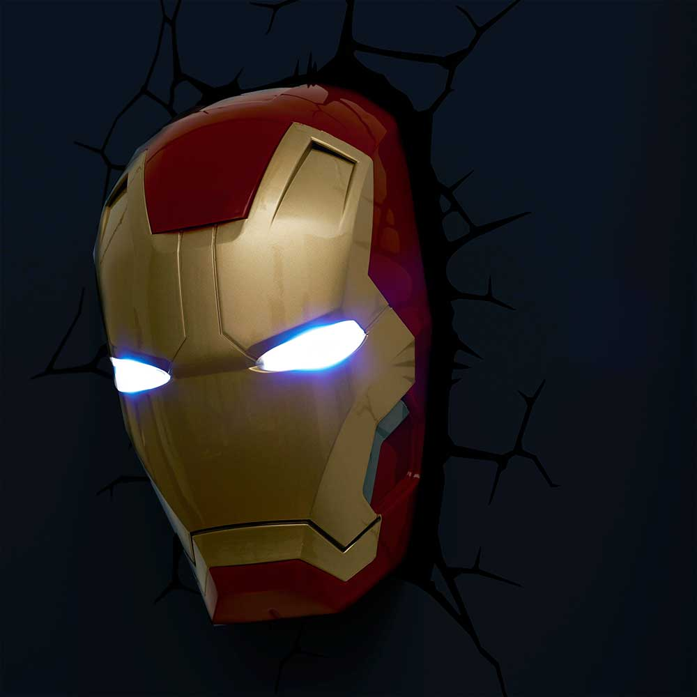 Iron Man 3 Face 3D Deco Light - Children's Birthday Your Kids Bday - 10th Birthday