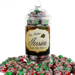 Personalised Christmas Chocolates Jar
