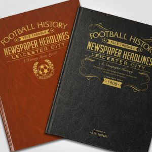 Personalised Leicester City Newspaper Book