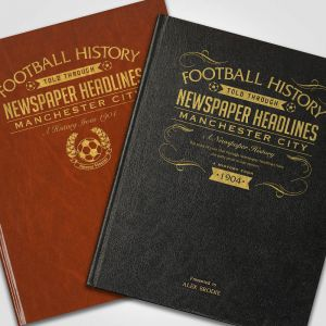 Personalised Manchester City Newspaper Book