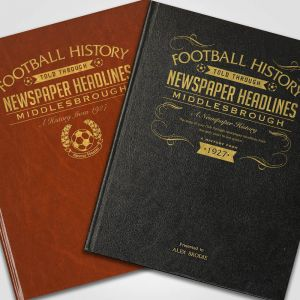 Personalised Middlesbrough Newspaper Book
