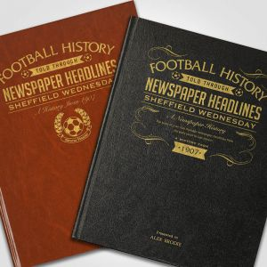 Personalised Sheffield Wednesday Newspaper Book