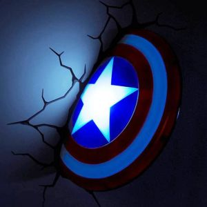 Captain America Shield 3D Deco Light