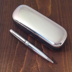 Personalised Classic Ballpoint Pen in Chrome Box