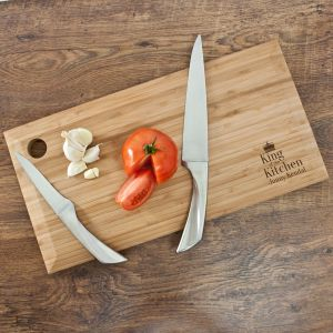 Personalised King of the Kitchen Chopping Board