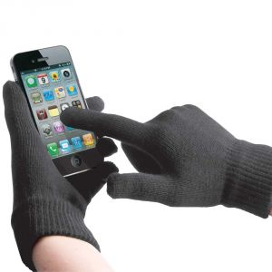 Touch Screen Gloves Grey