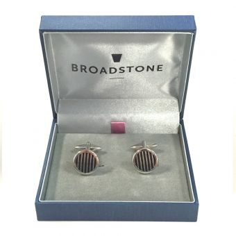 Broadstone Black Stripe Men's Cufflinks