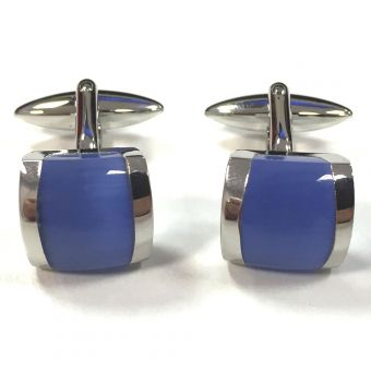 Broadstone Blue Cat Eye Men's Cufflinks