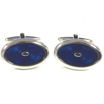 Broadstone Navy Sunburst Men's Cufflinks 2