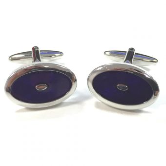 Broadstone Purple Sunburst Men's Cufflinks 2