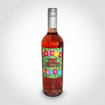 Personalised Merry Christmas Rosé Wine