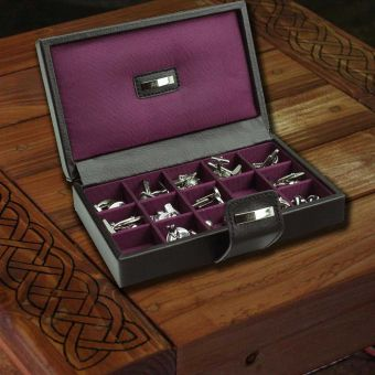 Cufflink Box Black/Plum