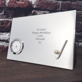 Personalised Golf Desk Clock