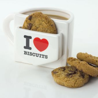 I Heart Biscuits Pocket Mug