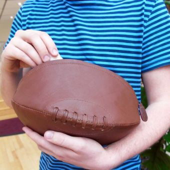 Leather Rugby Washbag