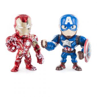 Metal Art Iron Man & Captain America