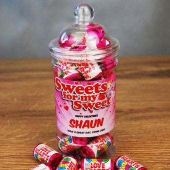 Personalised Mini Sweet with Love Hearts