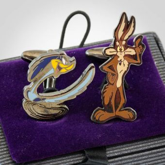 Looney Tunes Coyote and Road Runner Cufflinks