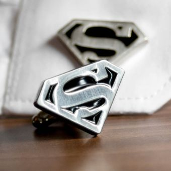 Superman Rhodium Cufflinks 2