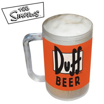 The Simpsons Duff Beer Freezer Mug Tankard