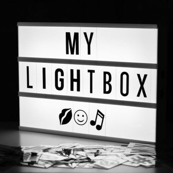 A4 Light Box: 85 Letters 1