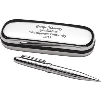Chrome Pen in Case