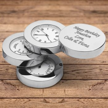 Engraved Weather Station Clock 1