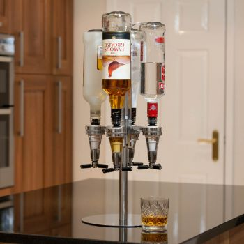 Four Bottle Bar Optic Drinks Dispenser