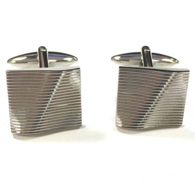 Broadstone Textured Wave Men's Cufflinks 2