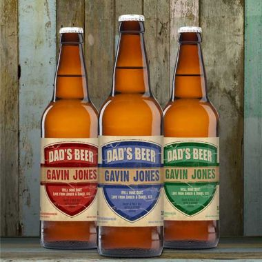 Personalised Beer 3 Pack Dad's Beer Set