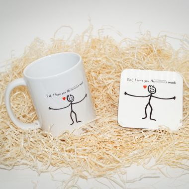 Dad I Love You This Much Mug & Coaster