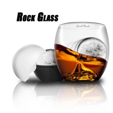 On the Rocks Glass & Ice Set