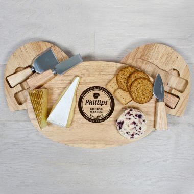 Personalised Artisan Cheese Makers Classic Cheese Board Set