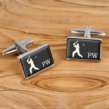 Personalised Executive Cricket Cufflinks