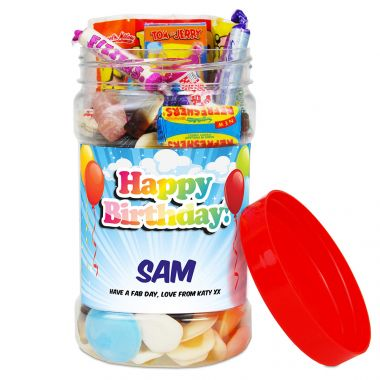 Personalised Happy Birthday Sweet Jar (Medium)