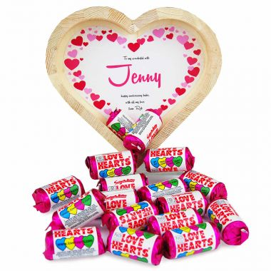 Personalised Love Hearts Heart Tray (Small)