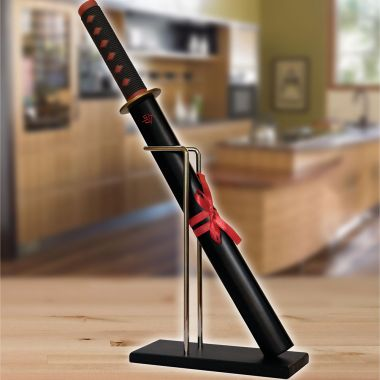 Samurai Sword Kitchen Knife & Stand