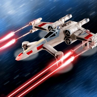 Star Wars T-65 X Wing Starfighter Battling Quadcopter