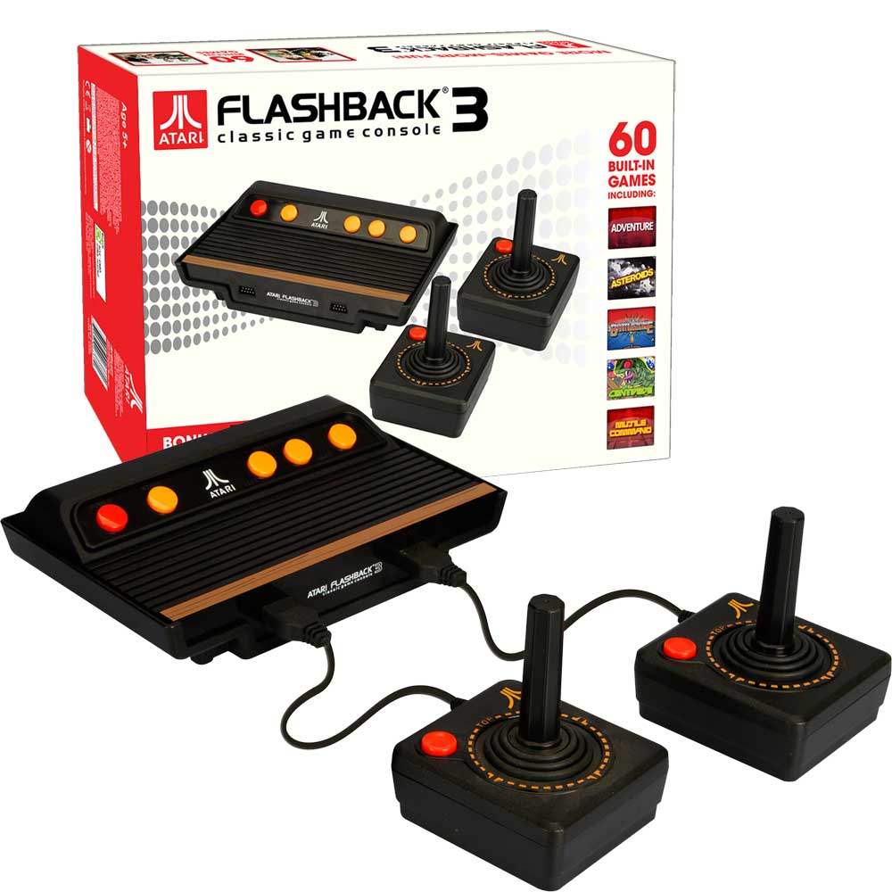 Atgames atari flashback 4 classic video games console - Atari flashback 3 classic game console ...