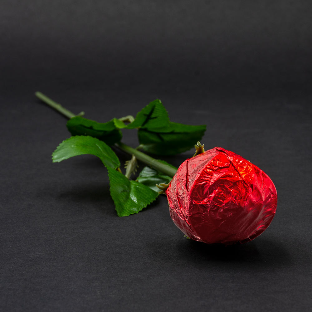 Belgian Milk Chocolate Rose With A Personalisable Sticker