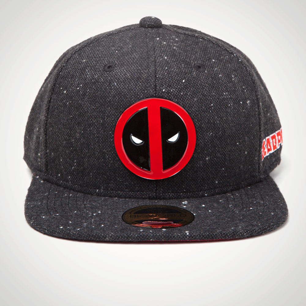 Deadpool Snapback with Metal Badge on Front