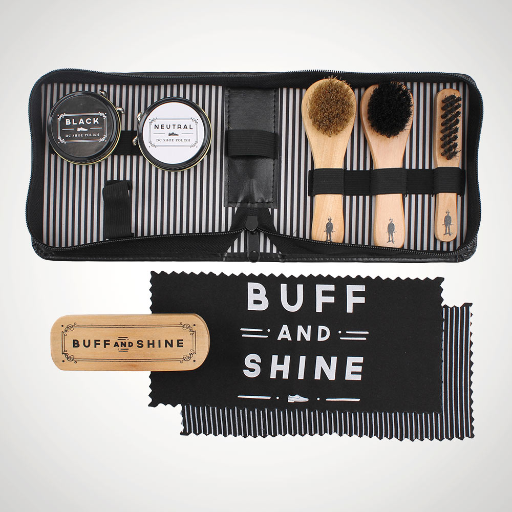 Dapper Chap Shoe Shine Kit