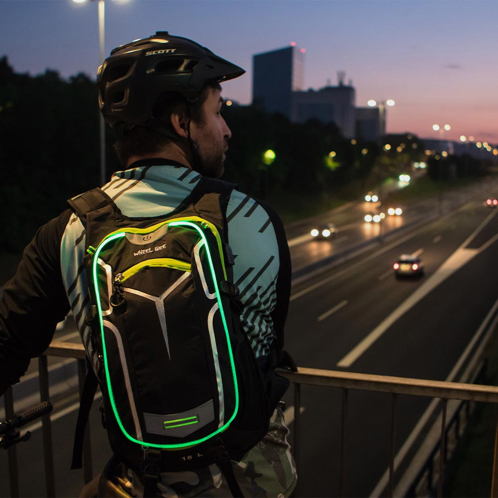 WheelBee LED Lit Bike Backpack