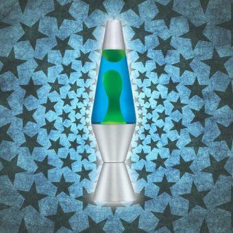 "14"" Lava Lamp Blue/Green Liquid"