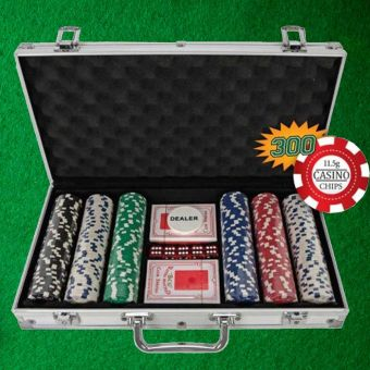 300 Piece Poker Chip Case Set