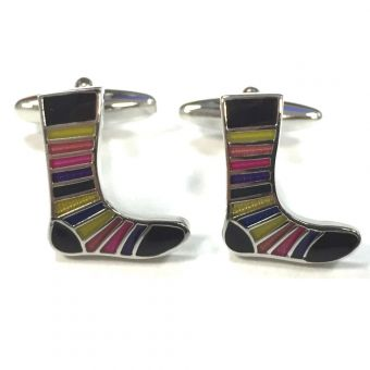 Striped Socks Cufflinks