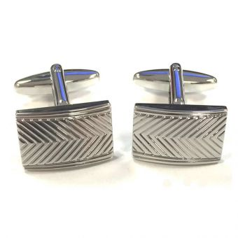Textured Chevron Cufflinks