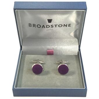 Broadstone Purple Velvet Men's Cufflinks