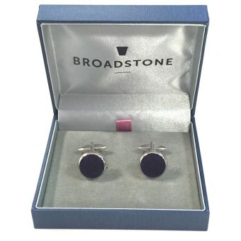 Broadstone Navy Velvet Men's Cufflinks